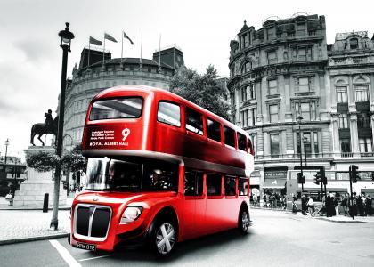 巴士,伦敦,广场,建筑物
