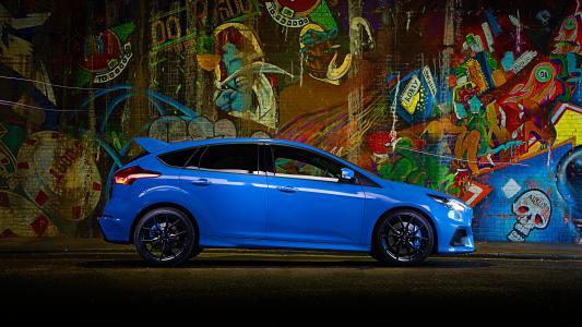 福特,蓝色,金属,侧身,2016,焦点,RS,英国规格