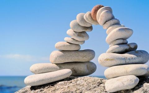 天空,石头,拱
