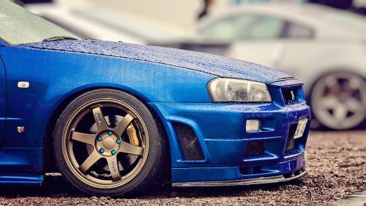 蓝色,日产,r34,调整,天际线,gt-r,日产