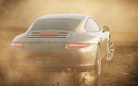 灰尘,最需要的速度2012年,比赛,保时捷911,烟雾