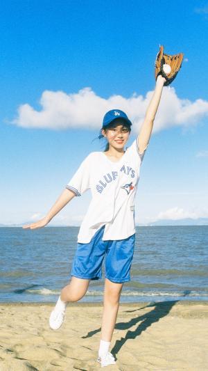 棒球女孩写真