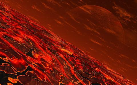 mojoworld,exoplanet,卫星,熔岩,热