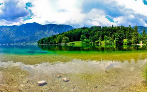 斯洛文尼亚,美丽,大自然,山