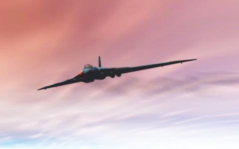 渲染,天空,飞机,轰炸机