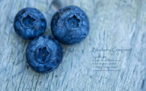 浆果,宏,食谱,蓝莓