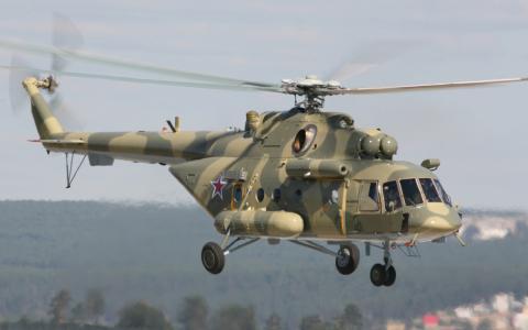 刀片,直升机,米-8,英里,天空,amtsh,明星