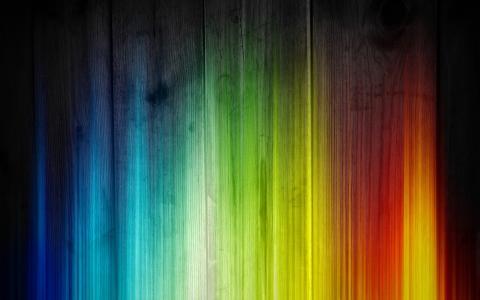 闪光的颜色,渐变,光芒四射