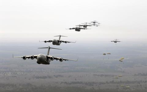 着陆,运输,降落伞