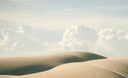 沙漠,沙,云,天空