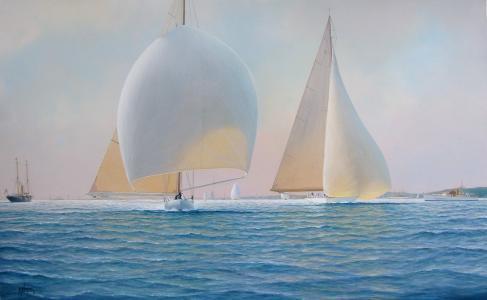 风,图片,蒂姆·汤普森,海,帆船,风帆
