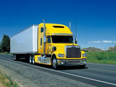 Freightliner,卡车,拖拉机,道路,货车,美国,黄色的小屋