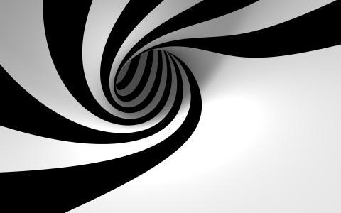 黑色和白色,螺旋
