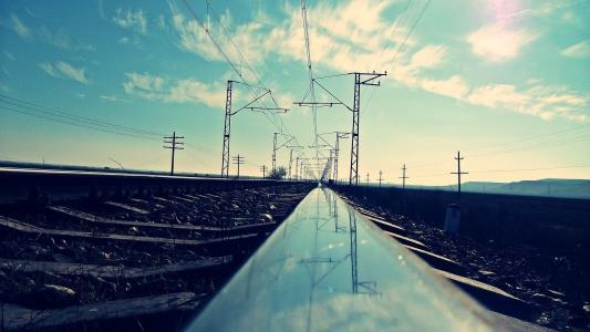 铁路,路,圈,照片,铁路