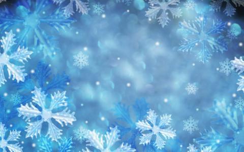 新的一年,假期,雪花