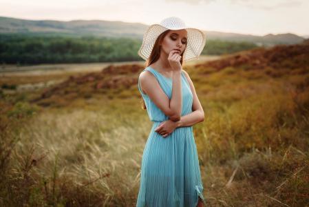 女孩,户外,肖像,摄影师,Alya Plesovskikh