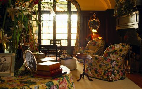 扶手椅,英式复古风格,,照片下