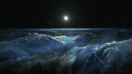 空间,星星,行星