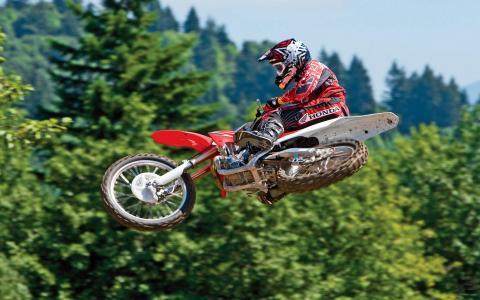摩托车,翻腾,极端,运动,树木,飞行,跳跃,在空气中