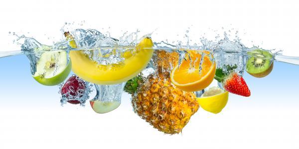 水,水果,菠萝,草莓