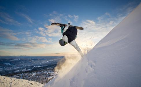 体育,滑雪板,极端,娱乐,山,冬天,雪,英俊,2015年