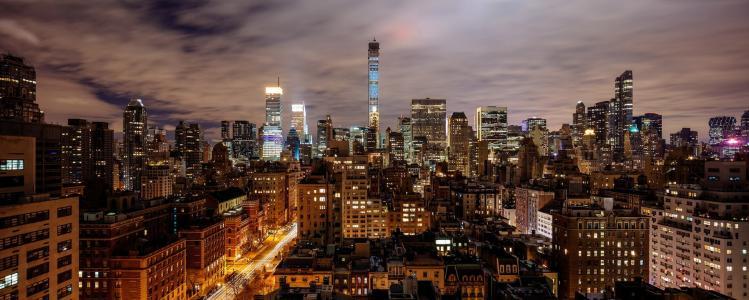 城市,世界之城,摩天大楼,灯光,夜景,灯光,美景