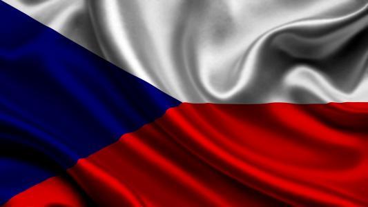捷克共和国,国旗,3d,捷克共和国,国旗