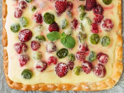 馅饼,食品,美味,浆果,食品,覆盆子,比萨饼,叶子