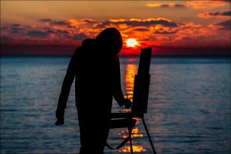 日落,太阳,sergei anashkevich,艺术家,摄影师,男子,克里米亚,塞瓦斯托波尔,chersonese,海角,海,水,白,黄色,橙色,红色