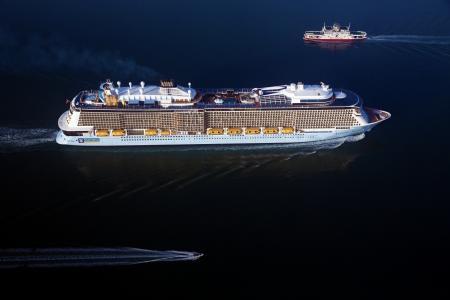 邮轮,船舶,班轮,美丽,船,船