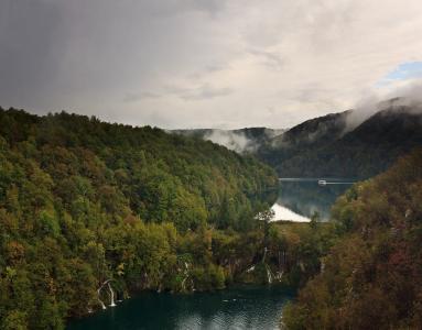 克罗地亚,十六湖,美丽,湖泊,森林,绿化,瀑布