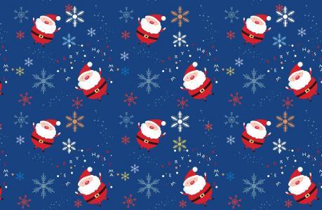 圣诞老人,很多,雪花,圣诞节