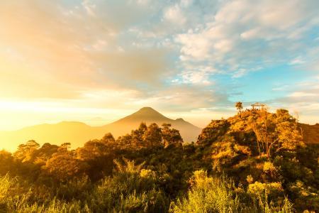 印度尼西亚,岛,山,天空,Java,岛,云,性质