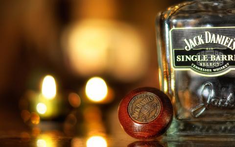 瓶,玻璃,品牌,威士忌,杰克丹尼尔斯