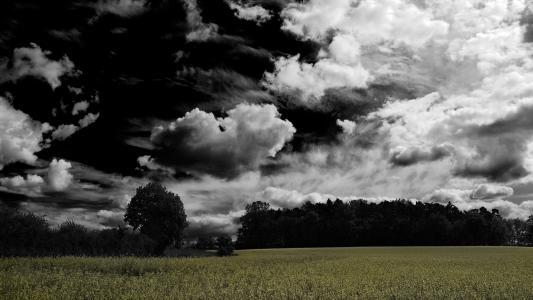 黑色的天空,云,明确的领域