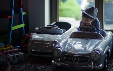 男孩,汽车,梦想