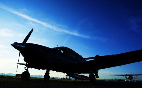 晚上,图像,飞机,壁纸,航空,工艺,天空,照片