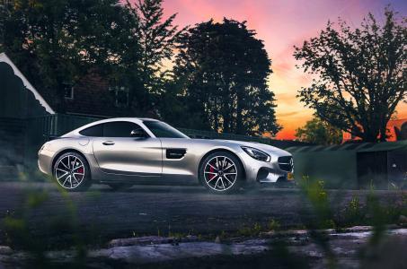 梅赛德斯 - 奔驰,奔驰,宏观照片,停车场,超级跑车,帅气