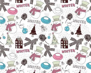 房子,袋,圣诞节,球,新年,冬天,雪人