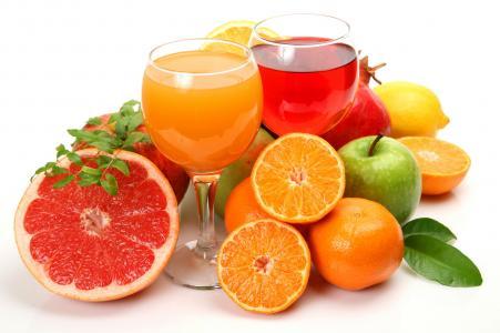 果汁,柠檬,柑橘类水果,葡萄柚,橘子