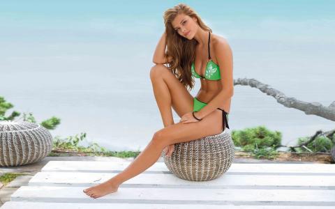 尼娜·阿格达尔,女孩,公平,模特,泳装