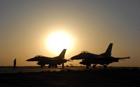 战斗机,日落,美丽