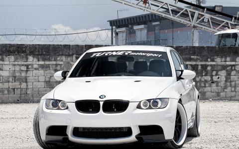 宝马,轿车,白色