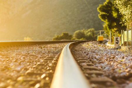性质,树木,铁路,铁路,路径