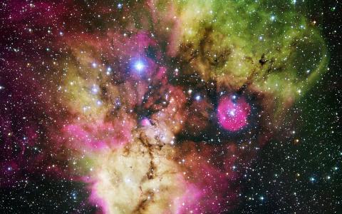 星云,哈勃,五颜六色,美丽