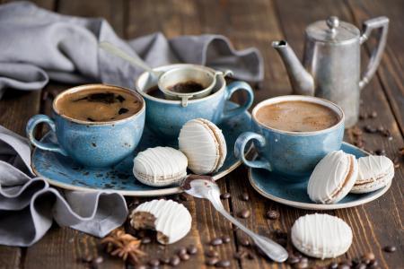 谷物,饮料,杯子,饼干,集,咖啡