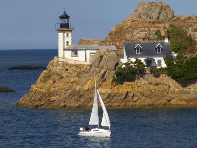 海,灯塔,游艇