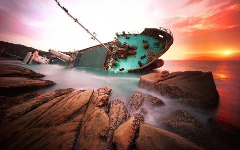 性质,创意,船舶,事故,海,岩石