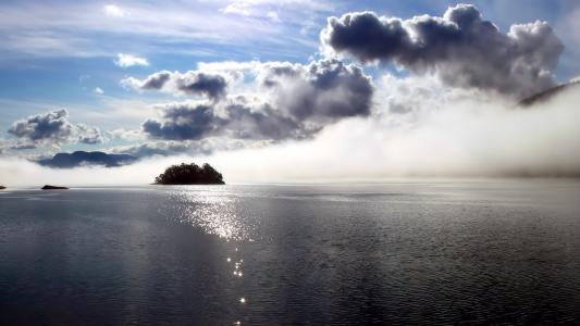云,雾,河,光