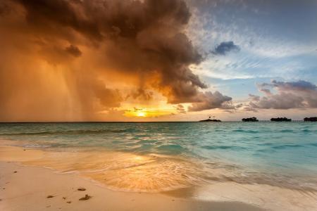 季风,马尔代夫,日落,雨,海洋,由帕维尔·普罗宁(Pavel Pronin)